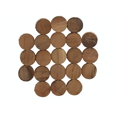 Creative Tops Naturals Pack Of 4 Circle Wood Coasters