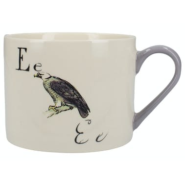 Victoria And Albert Nonsense Alphabet Squat Can Mug E