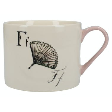 Victoria And Albert Nonsense Alphabet Squat Can Mug F