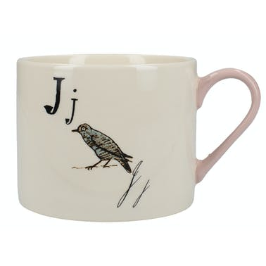 Victoria And Albert Nonsense Alphabet Squat Can Mug J