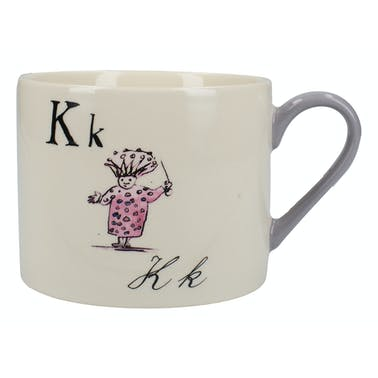 Victoria And Albert Nonsense Alphabet Squat Can Mug K