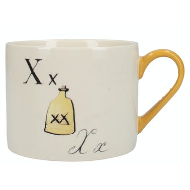 Victoria And Albert Nonsense Alphabet Squat Can Mug X