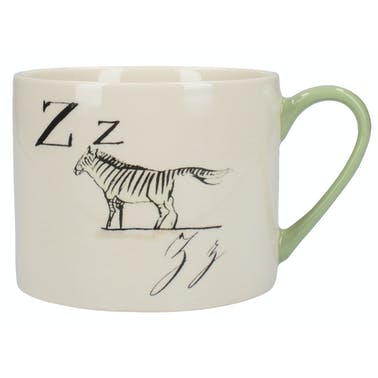 Victoria And Albert Nonsense Alphabet Squat Can Mug Z