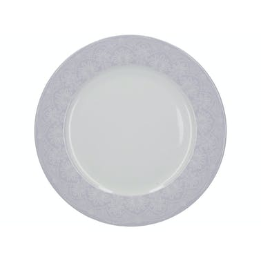 Katie Alice Wild Apricity Lace Grey Border Dinner Plate