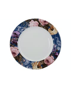 Photo of Katie Alice Wild Apricity Navy Floral Border Dinner Plate