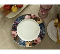 Katie Alice Wild Apricity Navy Floral Border Dinner Plate