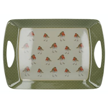 Creative Tops Into The Wild Robin Large Luxury Handled Tray