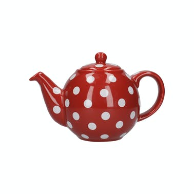 London Pottery Globe® 4 Cup Teapot Red With White Spots