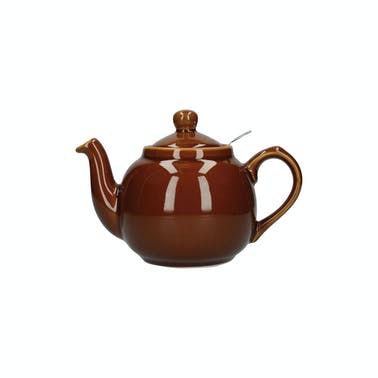 London Pottery Farmhouse 2 Cup Teapot Rockingham Brown