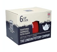 London Pottery Farmhouse® 6 Cup Teapot Red