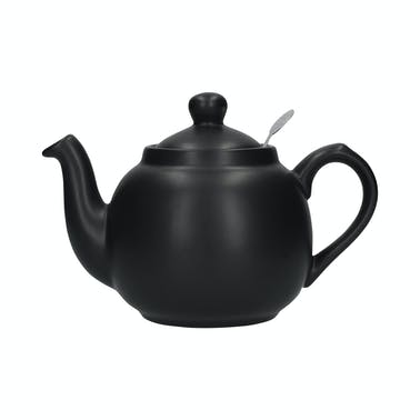 London Pottery Farmhouse 6 Cup Teapot Matt Black