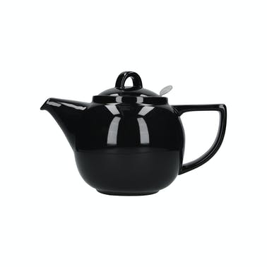 London Pottery Geo Filter 4 Cup Teapot Gloss Black