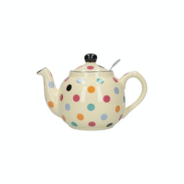 London Pottery Farmhouse® 2 Cup Teapot Ivory Multi Spot