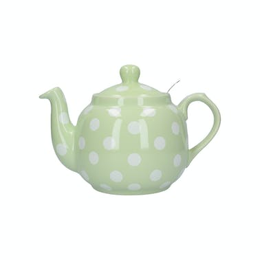 London Pottery Farmhouse® 4 Cup Teapot Peppermint With White Spots