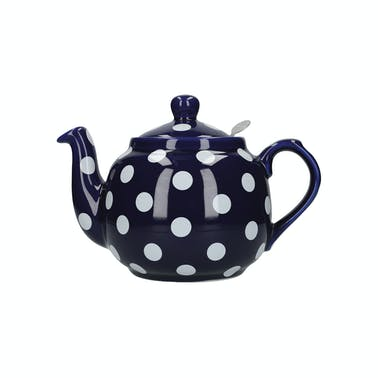 London Pottery Farmhouse® 4 Cup Teapot Blue With White Spots