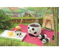 KitchenCraft Painted Ceramic Novelty Panda Mug with Lid