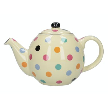 London Pottery Globe® 2 Cup Teapot Ivory Multi Spot