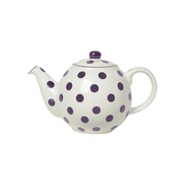London Pottery Globe® 4 Cup Teapot Ivory With Aub Spots