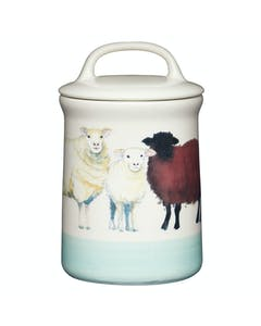 Photo of Apple Farm Sheep Coffee Canister Stoneware