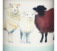 Apple Farm Sheep Coffee Canister Stoneware