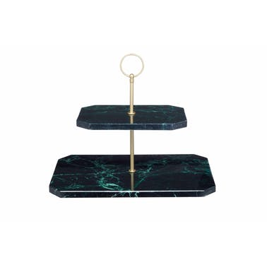 Artesà Two Tier Marble Serving Stand