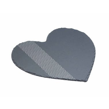 Artesà Etched Slate Heart Shaped Serving Platter