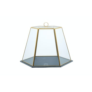 Artesà Glass Serving Cloche with Slate Base