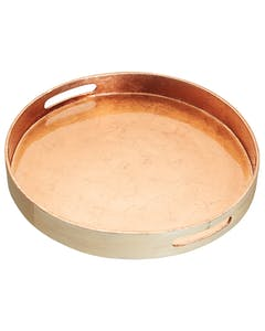 Photo of ArtesàBamboo 38cm Serving Tray with Copper Finish