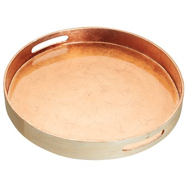 ArtesàBamboo 38cm Serving Tray with Copper Finish