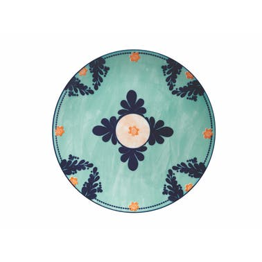 Maxwell & Williams Majolica 26.5cm Teal Dinner Plate