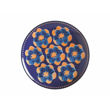 Maxwell & Williams Majolica 20cm Ink Blue Side Plate