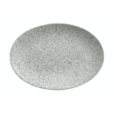Maxwell & Williams Caviar Speckle 35cm Oval Plate