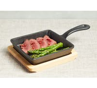 ArtesàCast Iron 15cm Small Fry Pan with Board