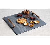 Artesà Etched Slate Square Serving Platter