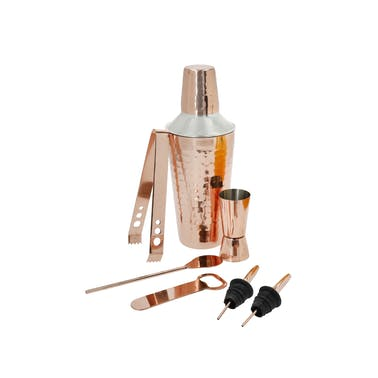 BarCraft 7-Piece Cocktail Making Set with Copper Finish