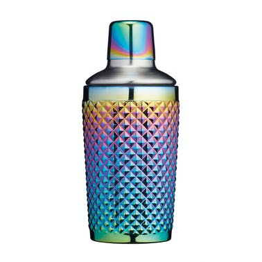 BarCraft Tropical Chic Rainbow 400ml Studded Boston Cocktail Shaker