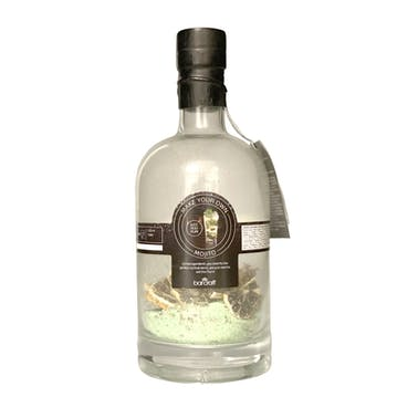 BarCraft Mojito Kit Gift Set with Glass Bottle, Cocktail Strainer and Ingredients