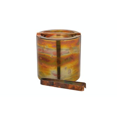 BarCraft Small Copper Ice Bucket with Lid