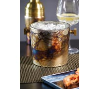 BarCraft Mercury Fire Glass Sparkling Ice Bucket