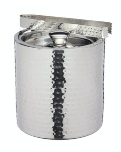 Photo of BarCraft Small Hammered Ice Bucket with Lid