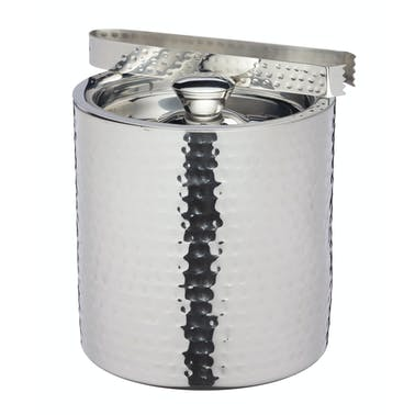 BarCraft Small Hammered Ice Bucket with Lid