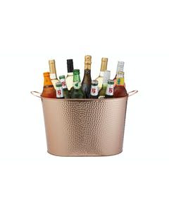Photo of BarCraft Hammered Copper-Finished Large Champagne/Wine Cooler Bucket