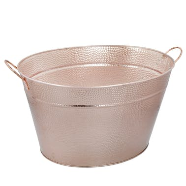 BarCraft Hammered Champagne Pail with Copper Finish