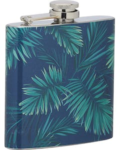 Photo of BarCraft Stainless Steel Tropical Leaves 175ml Hip Flask