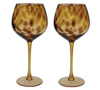 BarCraft Set of 2 Gin Glasses with Tortoise Shell Finish