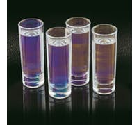 BarCraft Set of Four Iridescent Tall Shot Glasses