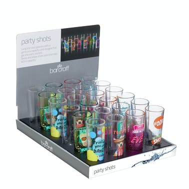 BarCraft Display of 24 Party Shot Glasses