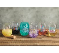 BarCraft Stemless Wine Glasses