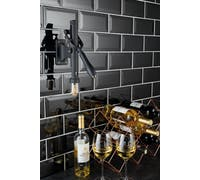 BarCraft Deluxe Wall-Mounted Stainless Steel Lever-Action Wine Bottle Opener