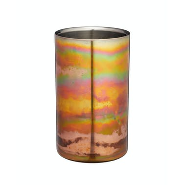 BarCraft Stainless Steel Iridescent Copper-Coloured Wine Cooler